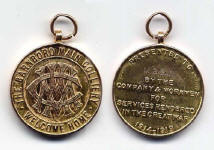 Miners Medals service in Great war